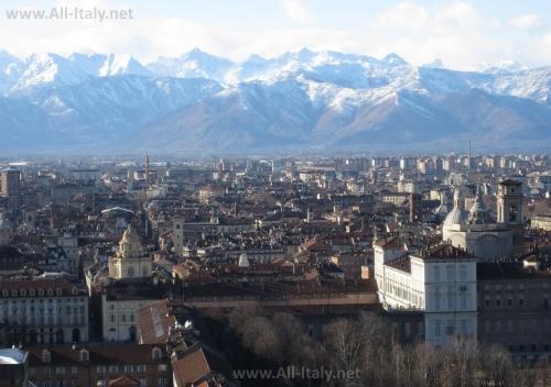 Панорамный вид на Турин