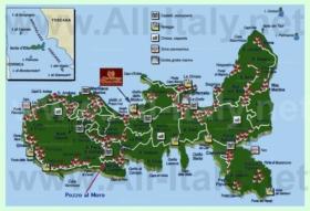 Подробная туристическая карта острова Эльба с достопримечательностями