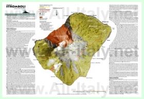 Подробная туристическая карта острова Стромболи