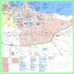 Подробная карта Бари с достопримечательностями
