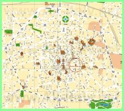 Подробная карта Болоньи с достопримечательностями