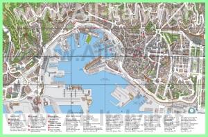 Туристическая карта города Генуя