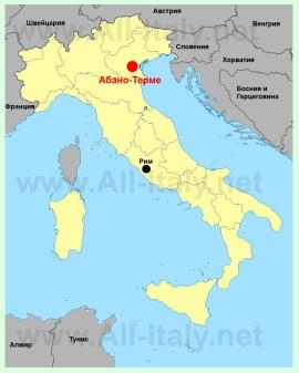 Абано-Терме на карте Италии