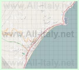 Подробная карта города Алассио