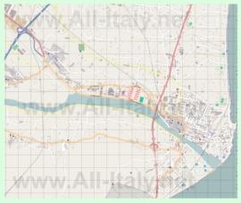 Подробная карта города Альбенга