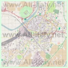 Подробная карта города Алессандрия