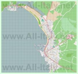 Подробная карта города Альгеро