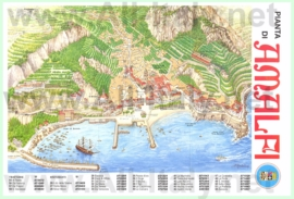 Подробная туристическая карта города Амальфи