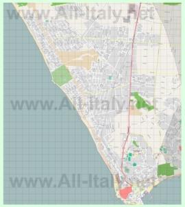 Подробная карта города Анцио
