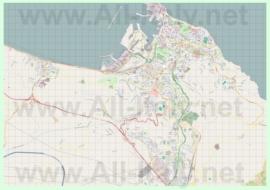 Подробная карта города Анкона