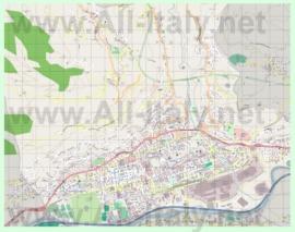 Подробная карта города Аоста