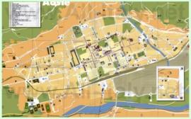 Туристическая карта Аосты с отелями и достопримечательностями
