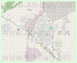 Подробная карта города Априлия