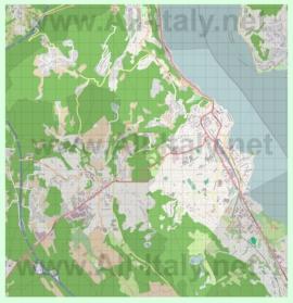 Подробная карта города Арона