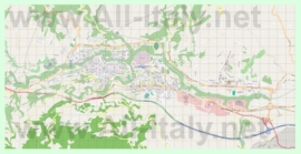 Подробная карта города Асколи-Пичено