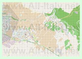 Подробная карта города Ассизи