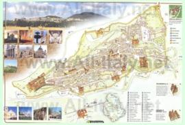 Туристическая карта Ассизи с достопримечательностями