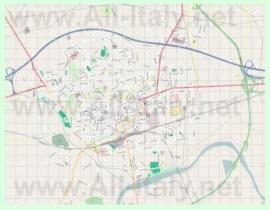 Подробная карта города Асти