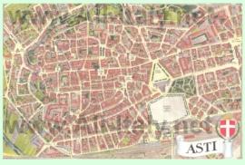 Туристическая карта Асти с достопримечательностями