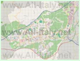 Подробная карта города Авеллино