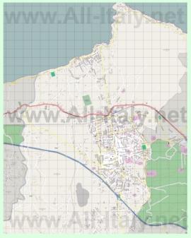 Подробная карта города Багерия