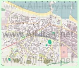Подробная карта города Барлетта