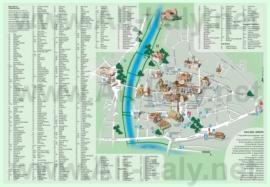Карта центра Больцано с достопримечательностями