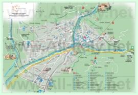 Подробная туристическая карта Больцано