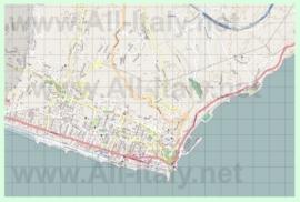Подробная карта города Бордигера