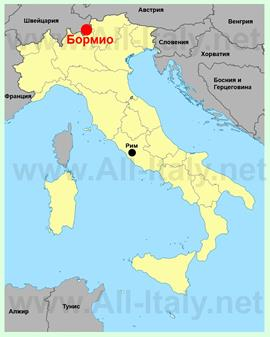 Бормио на карте Италии