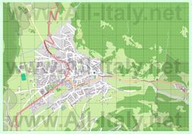 Подробная карта города Бормио