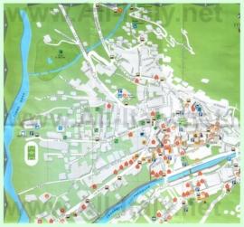 Туристическая карта Бормио с отелями