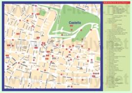 Туристическая карта Брешии с достопримечательностями