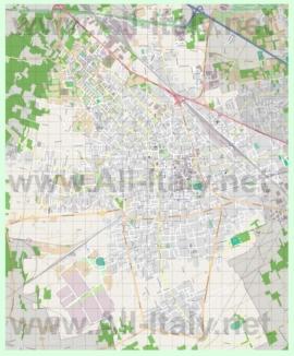 Подробная карта города Бусто-Арсицио