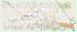 Подробная карта города Чериньола