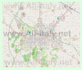 Подробная карта города Чезена