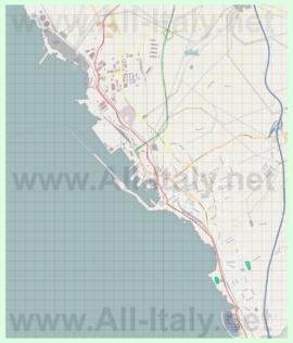 Подробная карта города Чивитавеккья