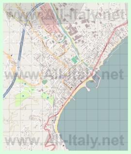 Подробная карта города Диано-Марина
