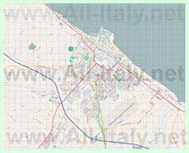 Подробная карта города Фано