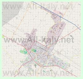 Подробная карта города Фаэнца