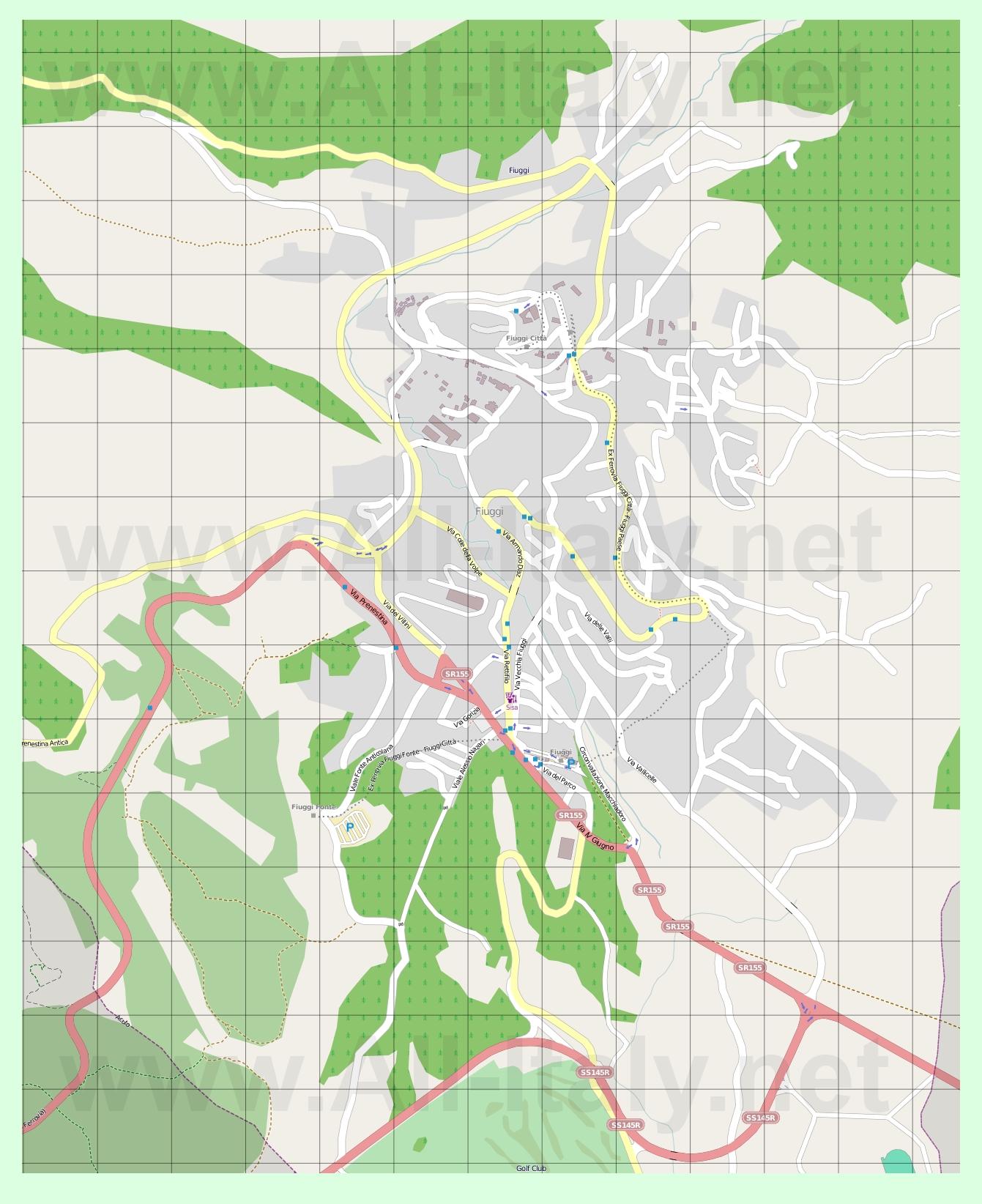 Подробная карта города фьюджи