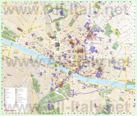Карта Флоренции на русском языке с отелями