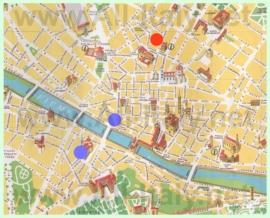 Туристическая карта центра Флоренции