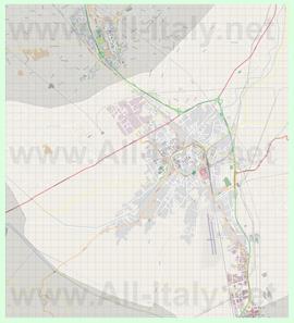 Подробная карта города Фолиньо