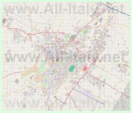 Подробная карта города Форли