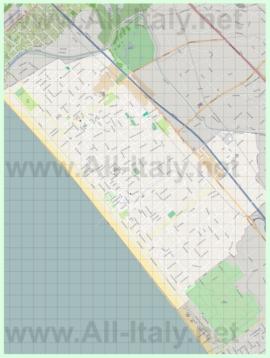 Подробная карта города Форте-дей-Марми