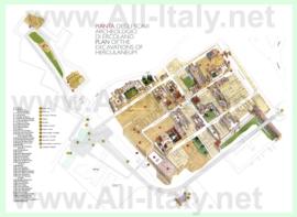 Подробная туристическая карта города Геркуланум
