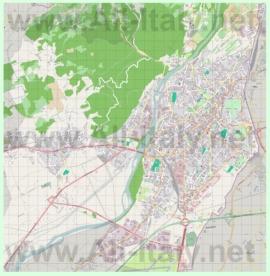 Подробная карта города Гориция
