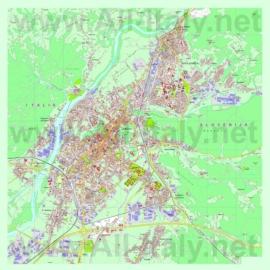 Туристическая карта Гориции с достопримечательностями
