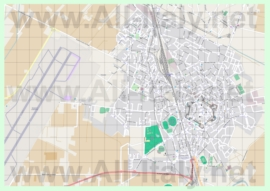 Подробная карта города Гроссето